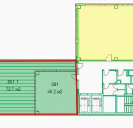 Помещение №801-801.1: план